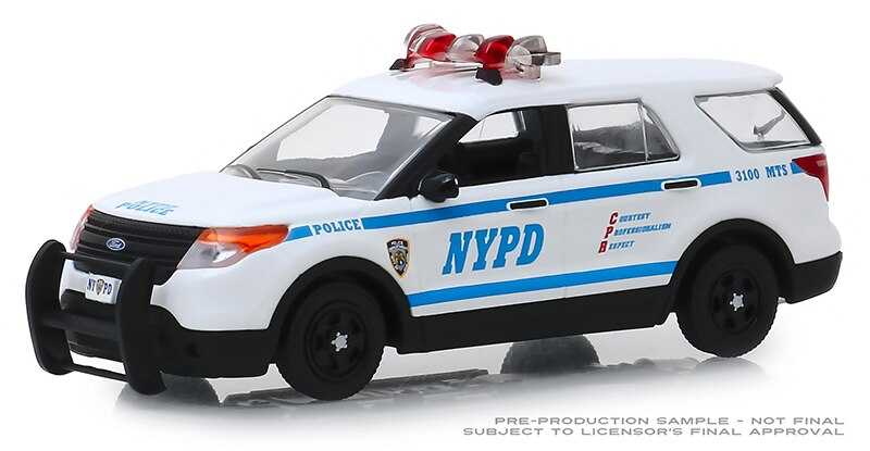 Luz verde 143 2013 Ford Interceptor Utility coches de juguete de aleación para niños modelo original caja