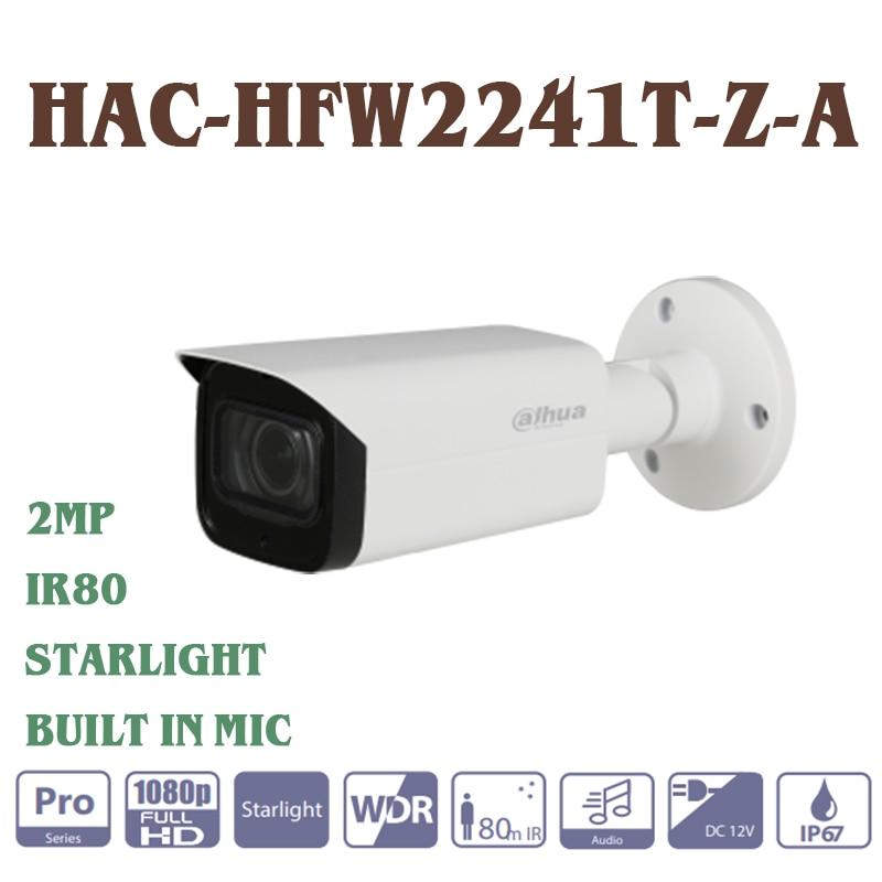Dahua HAC-HFW2241T-Z-A 2MP Hdcvi Ir Bullet Camera Cmos Starlight Ingebouwde Microfoon 2.7-13.5 Mm Gemotoriseerde Lens IR80