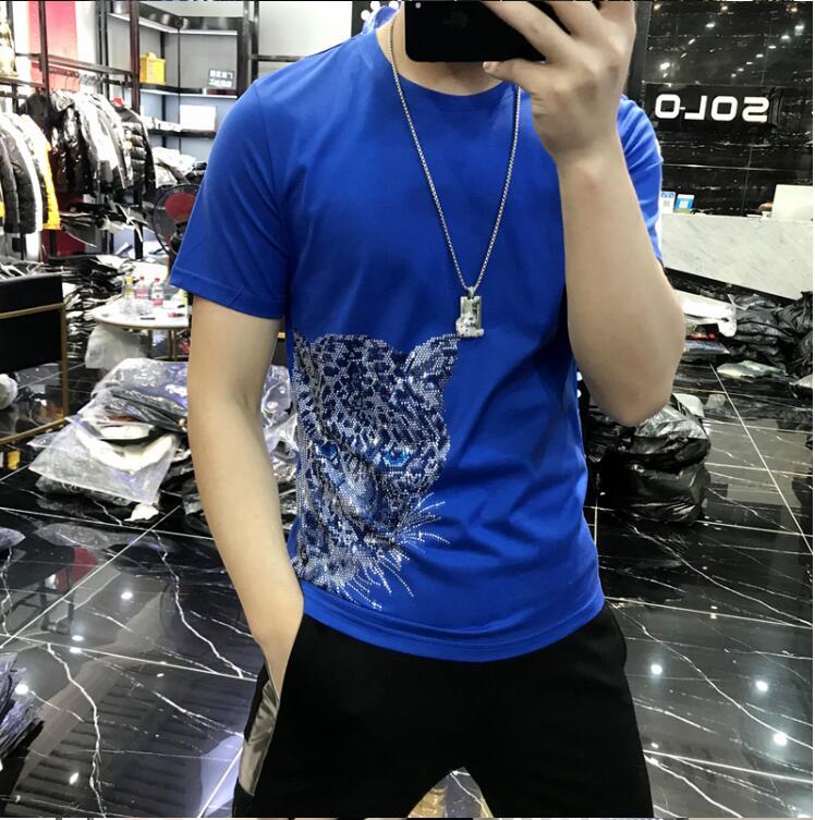 Camiseta de hombre de piedra de diamante, Camiseta cómoda de calidad superior para hombre, camiseta informal ajustada de talla grande, M-5XL