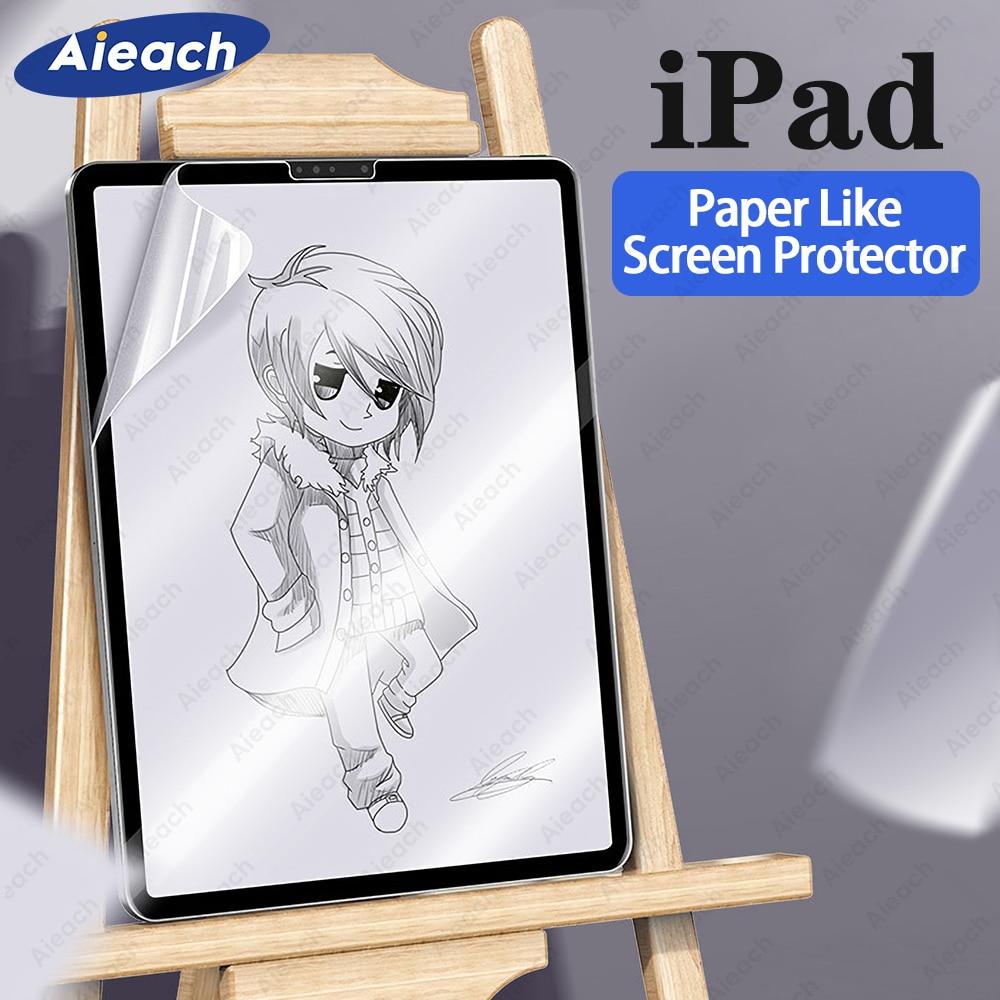 Como papel de Protector de pantalla para iPad Pro 10,5, 12,9 de 9,7 dibujo película mate para iPad 2018, 2017, 9,7, 2019, 10,2 1 2 3 4 5
