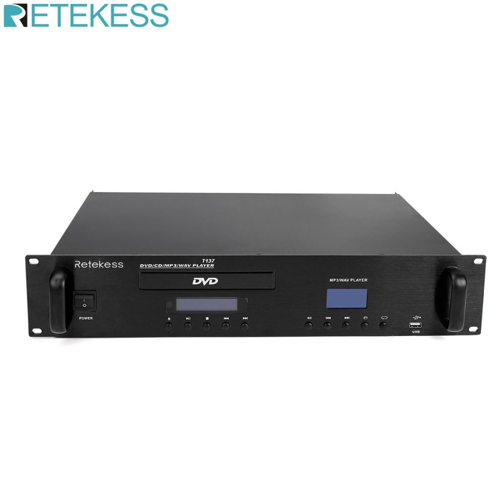 Retekess T137 CD/MP3 Player for Public Campus Broadcasting System Intelligent Timed Playback System School Church Airport