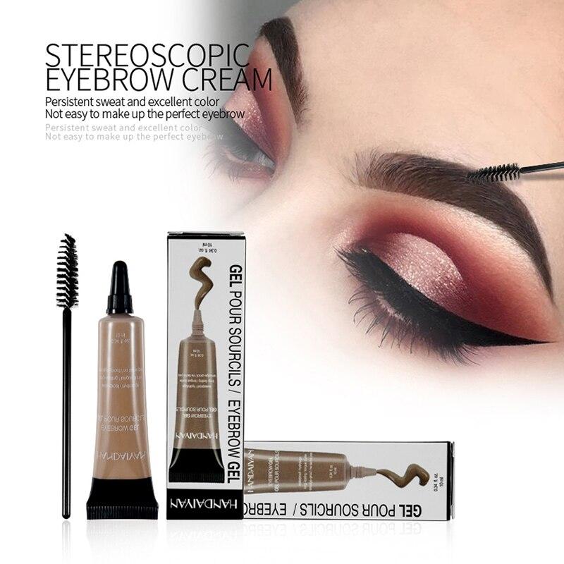 6 Colors Pro Eyebrow Cream Gel Makeup Eyebrow Tattoo Pen Tint Long Lasting Waterproof Henna Eyebrow Gel Cream недорого