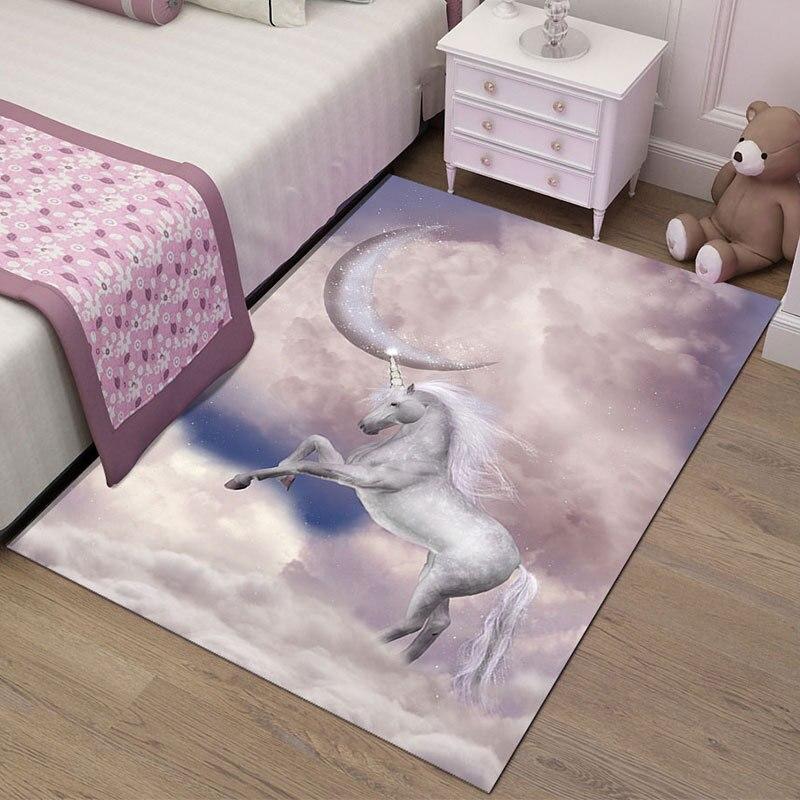 سجادة على الطراز الاسكندنافي برسومات كرتونية ثلاثية الأبعاد لغرف نوم الاطفال سجادة لينة من الفلانيل لغرفة الطفل سجادة لغرفة المعيشة