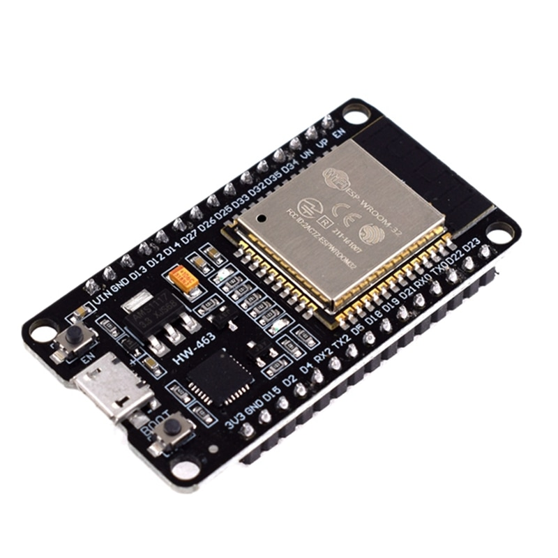 ESP-32 ESP-32S, tarjeta de desarrollo de Bluetooth inalámbrica WiFi, módulo micro-usb CP2102 de 2,4 GHz, Dual Core, ESP32 con pines Beyond ESP826