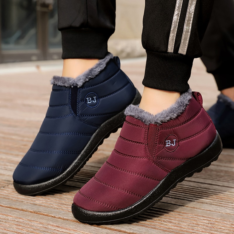 Woman Snow Boots Plush New Warm Ankle Boots For Women Winter Boots Waterproof Women Boots Female Win