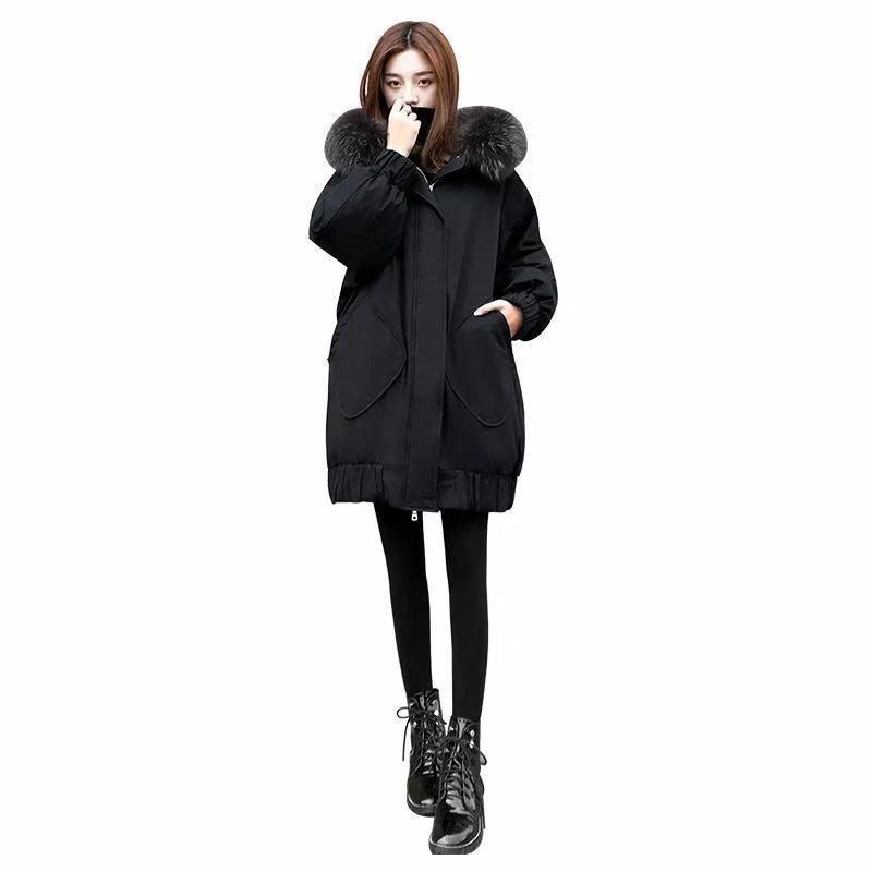 Maternity Clothing Autumn Winter Women Black Overcoat Stylish Female Thick Warm Velvet cotton Jacket Casual Girls Streetwear enlarge