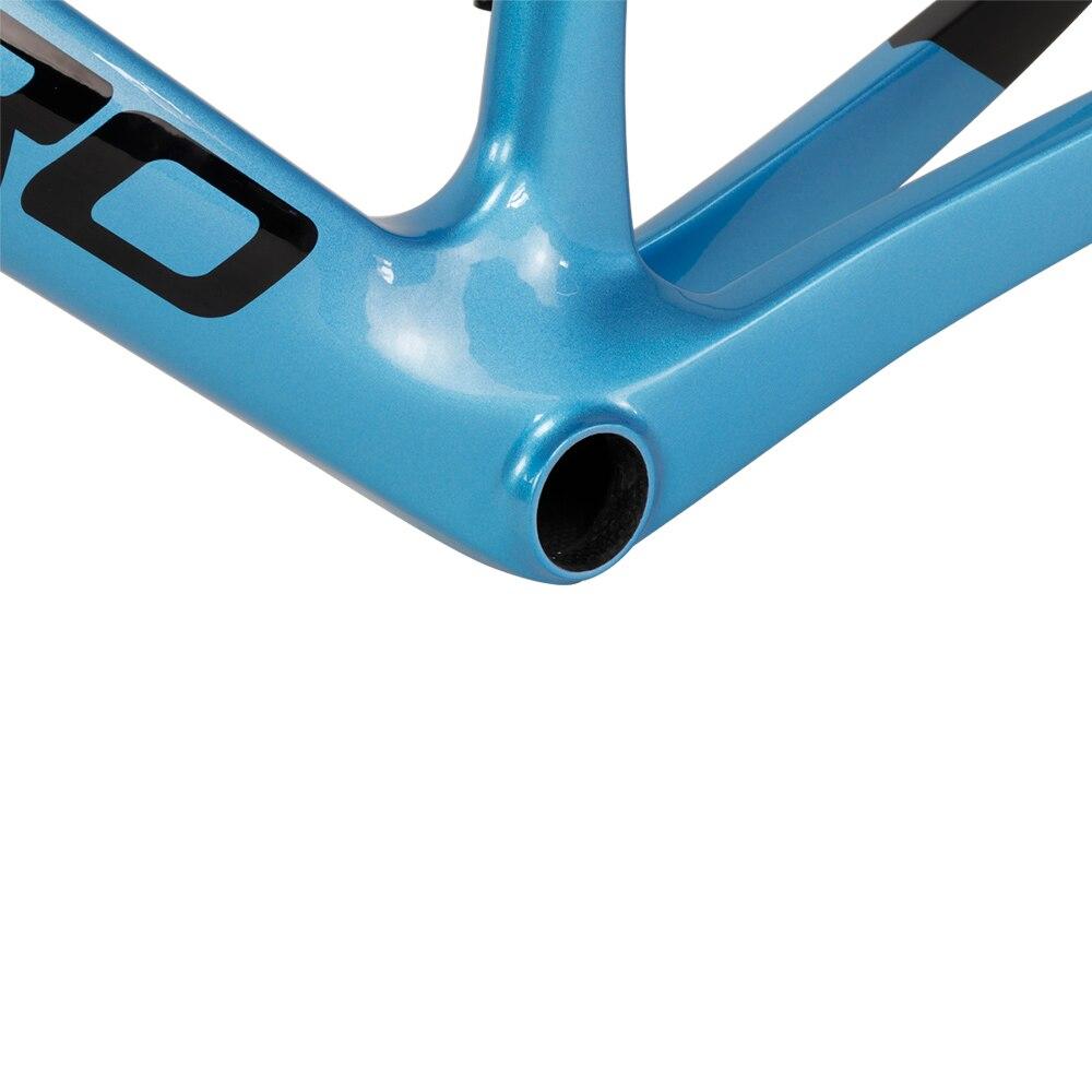 ICAN aero carbon road cycling bicycle frame disc brake bike frameset with aero handlebar