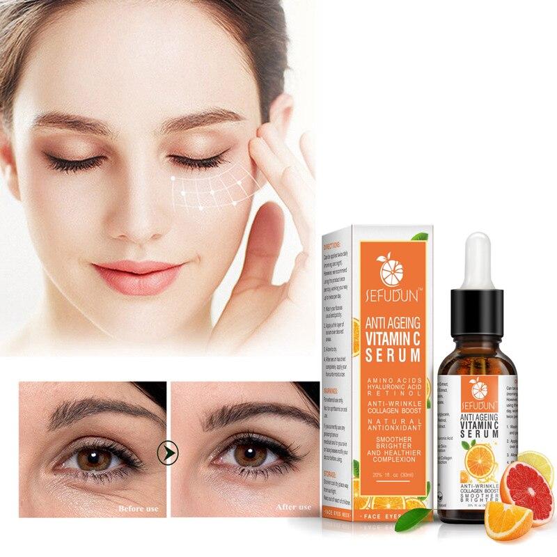 Brightening Serumvitamin C Raw Water Replenishment Facial Essence Dilute Finelines Skin Brighten Pla