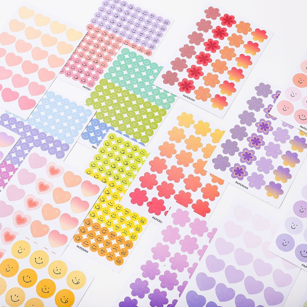 4 Sheets/lot Summer Series Ins Decorative Stickers Scrapbooking DIY Note Paper Sticker Flakes Stationary Office Accessorie kawaii rosyposy life series cute sticker custom stickers diary stationary flakes scrapbook diy decorative stickers