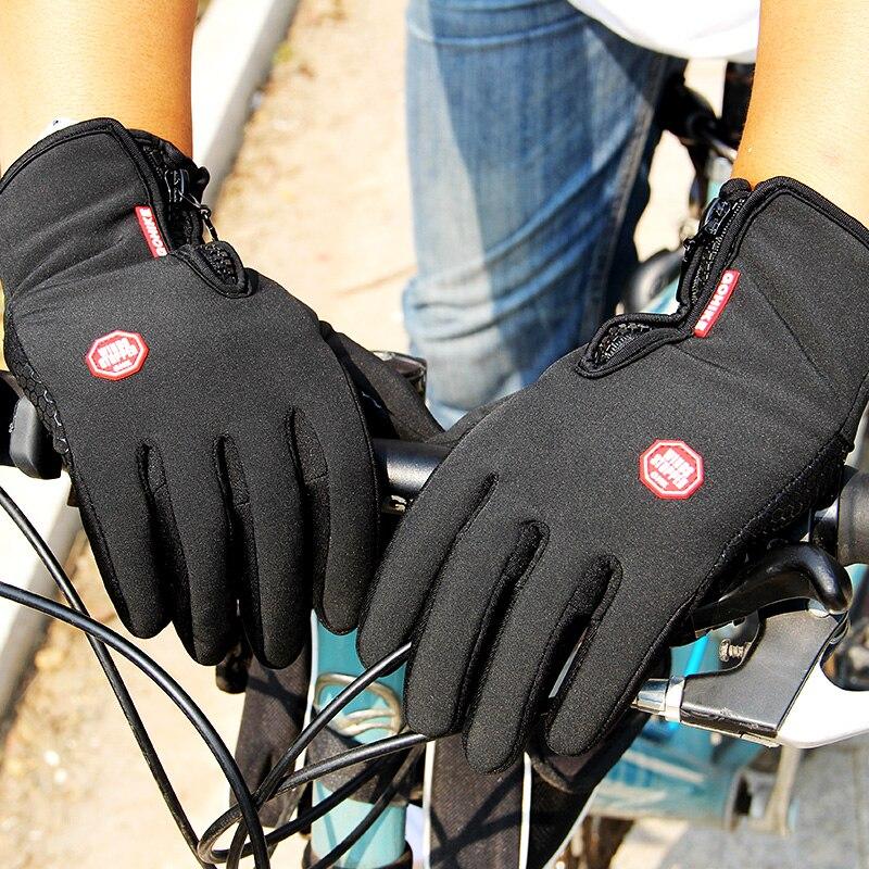 Winter Mens Women Cycling Anti-Slip Motorcycle Windproof Bike Gloves Anti-Shock Full Finger Mountain Bicycle Gloves