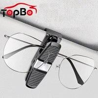 portable car glasses holder car sun visor sunglasses clip ticket card clamp abs eyeglasses clip auto accessories
