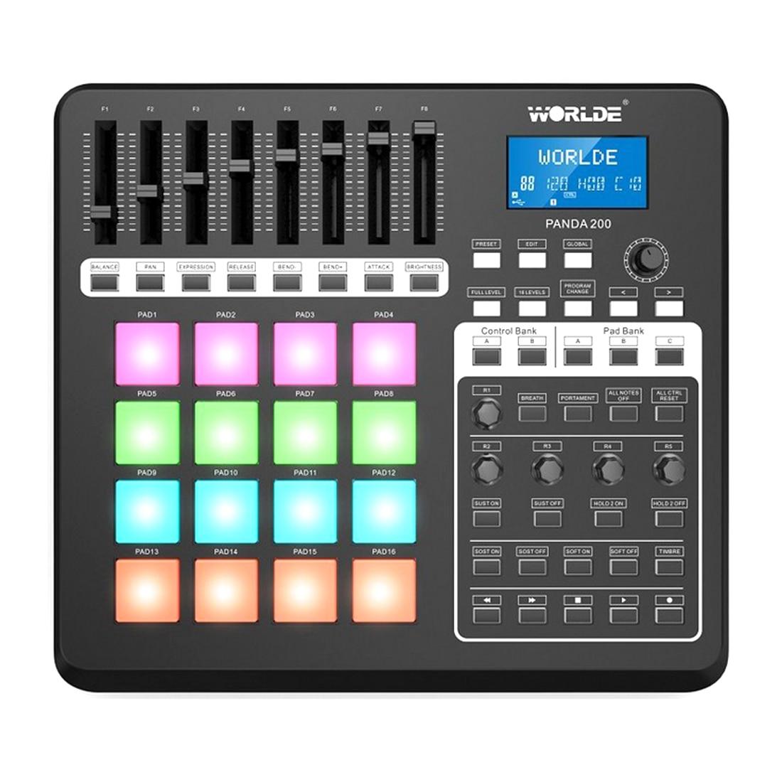 Teclado Musical de sonido eléctrico MIDI, controlador de Launchpad RGB, para Dj,...
