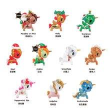 Original tokidoki Unicorno Christmas Series Santa Claus Deer Blind Box Collection Model Toy Gift