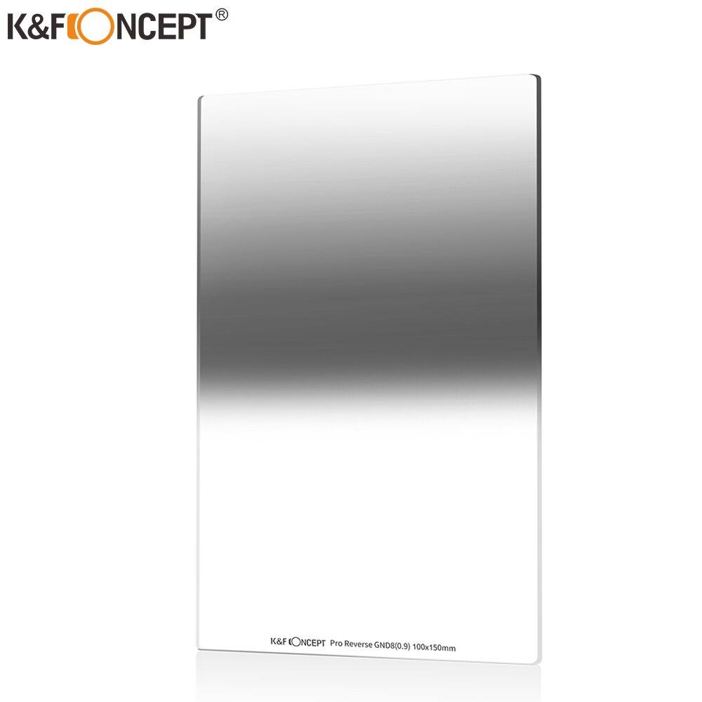 K & F-مرشح كثافة محايد متدرج عكسي ، ND8 (0.9/3 توقف) ، طلاء نانو مقاوم للماء لـ Cokin Z ، 100 × 150 × 2.0 مللي متر