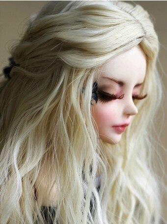 Estilo Europeo recién llegado 1/3 1/4 BJD/SD peluca muñeca de alta temperatura de moda larga rizada para peluca de pelo BJD