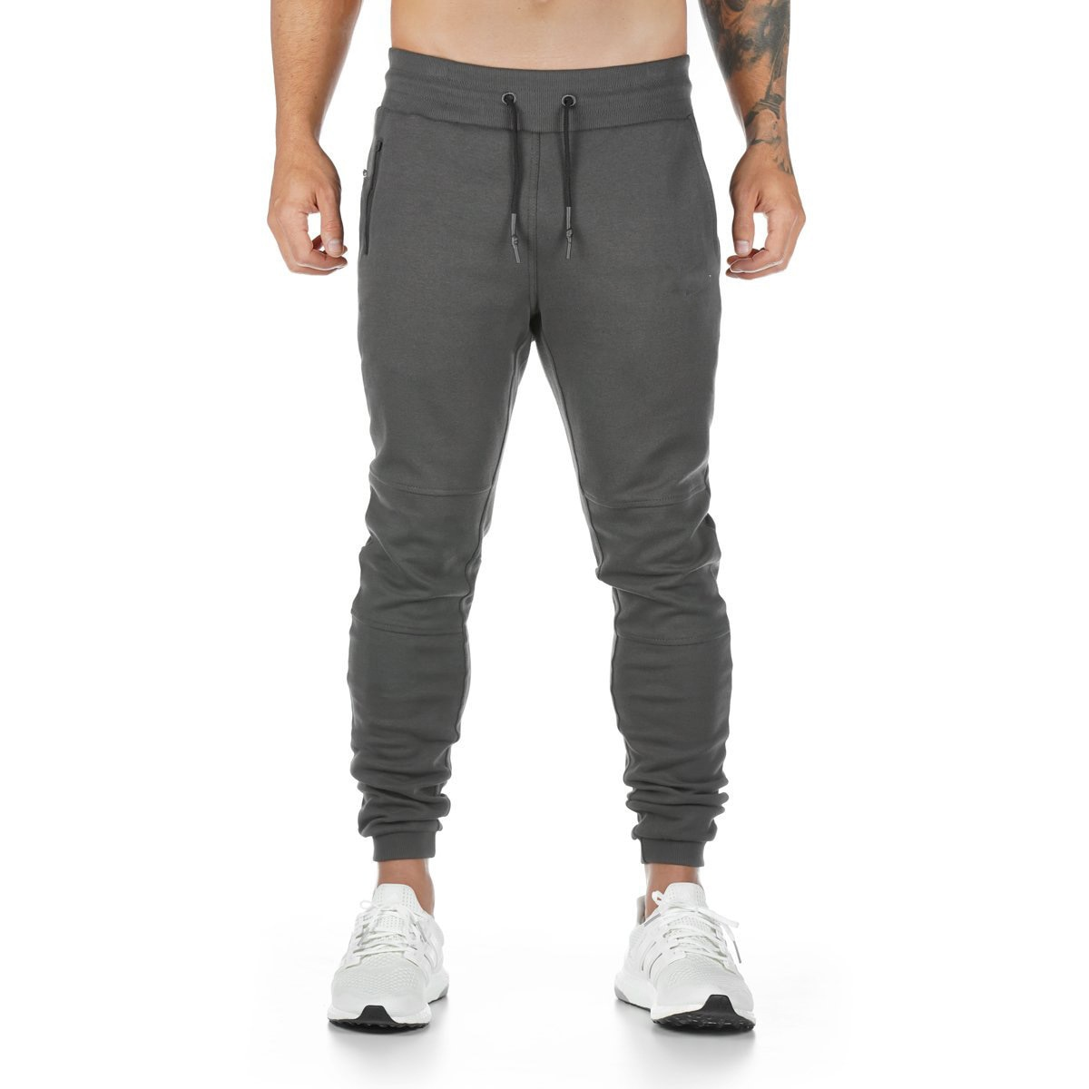2020 спортивные мужские тренировочные облегающие тренировочные брюки, Джоггеры для бега, Джоггеры для фитнеса, однотонные длинные брюки, муж...