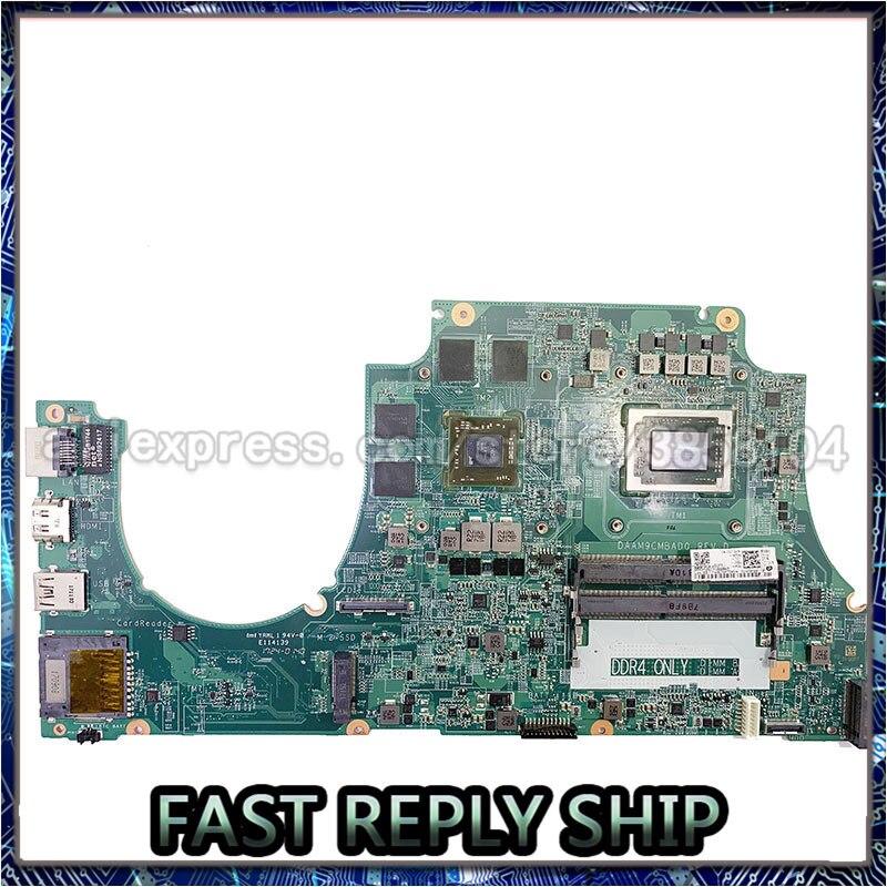 Dellのinspiron 5576 AM9C 02TG9M CN-02TG9M radeon rx 560 gpuノートパソコンのマザーボードamd AMDFX9830 DAAM9MBAD0 メインボードDDR4