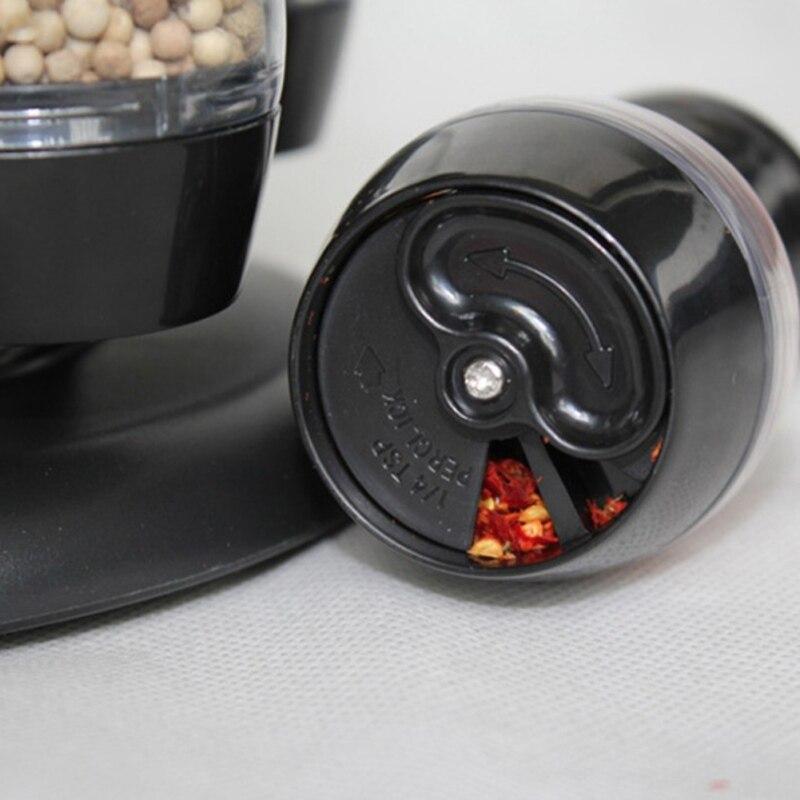 Juego de tarros de condimentos con forma de vinagrera giratoria 2020 para especias, pulverizadores de pimienta, botellas, saleros, estante de almacenaje para Cocina