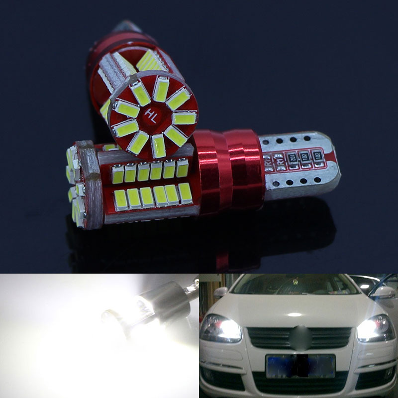 2 led t10 w5w luzes de apuramento, luz de estacionamento para vw polo golf 4 5 6 7 gti passat b6 b5 jetta mk5 mk6 cc eos touareg beetle