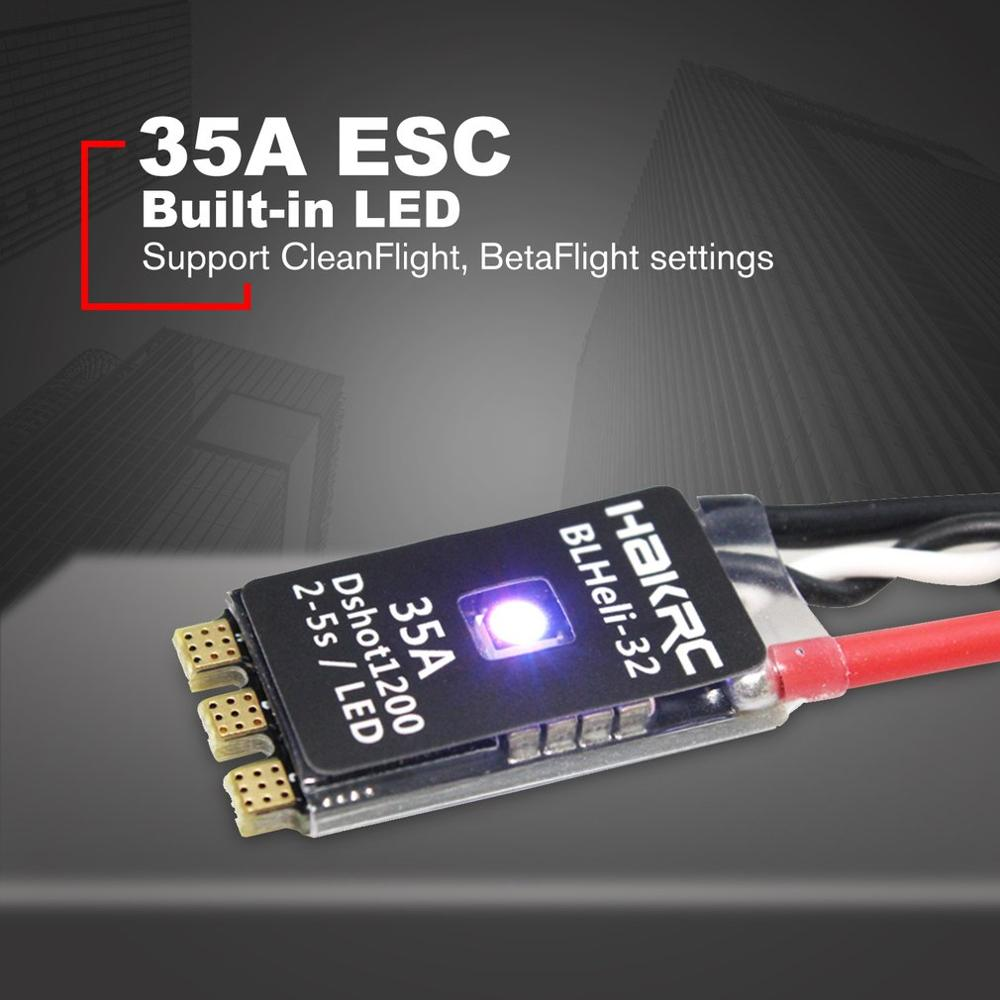 HAKRC BLHeli_32 Bit 35A 2-5S ESC Встроенная светодиодная поддержка Dshot1200 Multishot для FPV RC Drone, деталь для самолета
