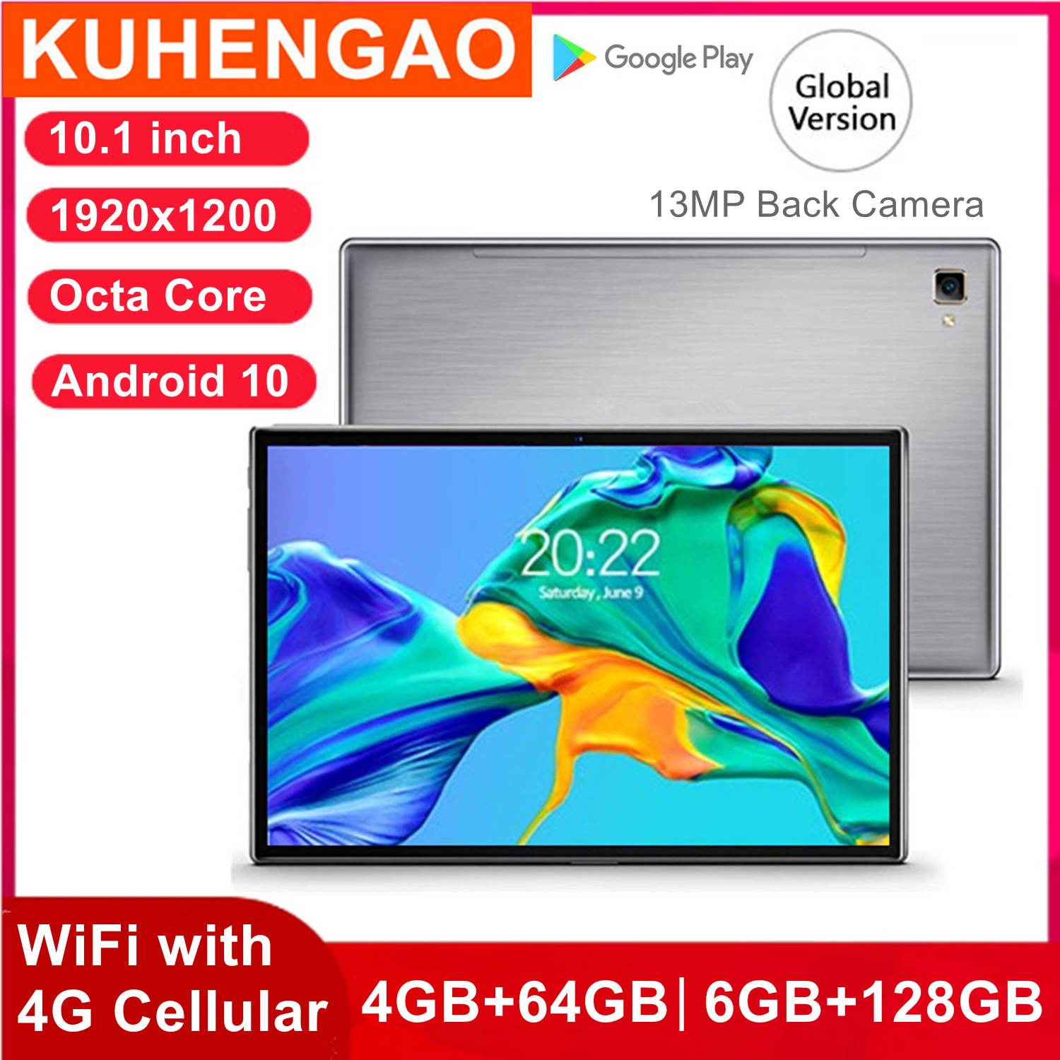 Tablet PC 1920x1200 Network-10.1 inch Call Dual-Phone Android 10.0 Octa-Core