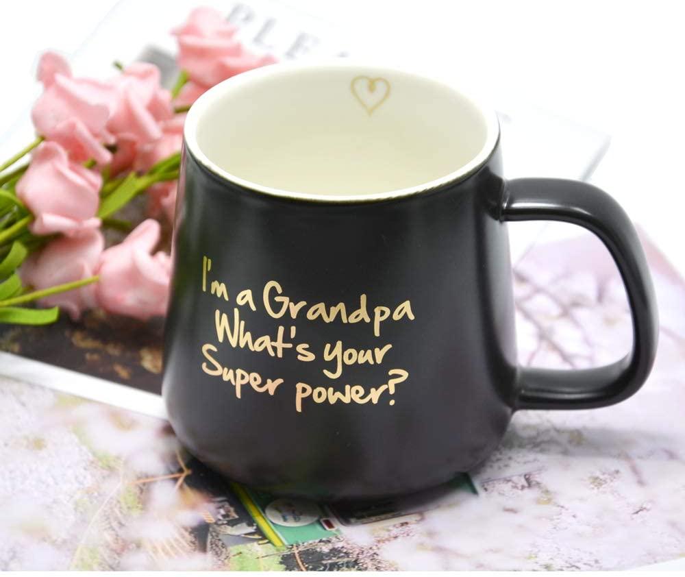 Taza de la abuela de 11OZ, taza de café de porcelana Natural de mármol con monograma dorado, tazas de café Boss Lady, tazas de leche té de 360ML y tazas, boda creativa