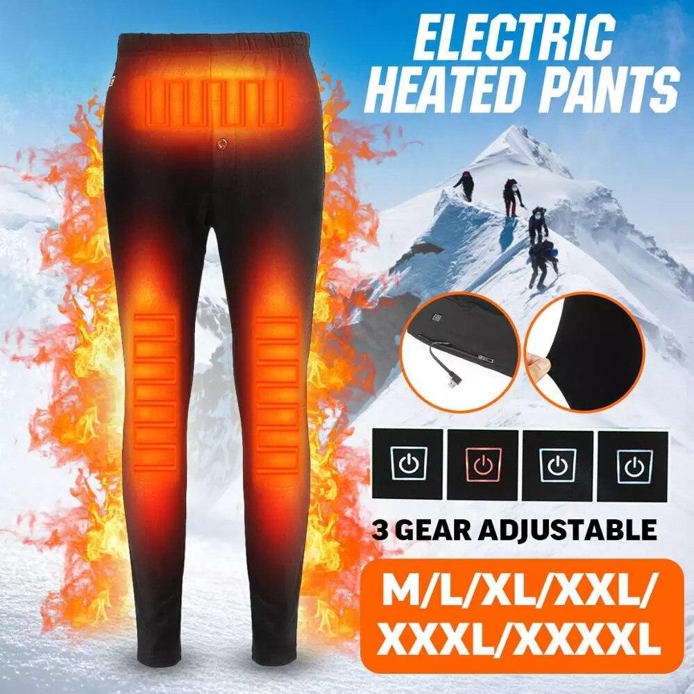 الشتاء ساخنة السراويل السراويل ذاتية التدفئة في الهواء الطلق المشي لمسافات طويلة الدافئة ضئيلة USB الرحلات التزلج السراويل الحرارية الكهربا...