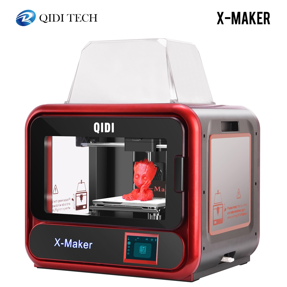 Impresora 3D QIDI X-MAKER Impresora de grado educativo 3D Drucker tamaño de impresión de alta precisión 170mm * 150mm * 160mm con ABS,PLA,Flexible