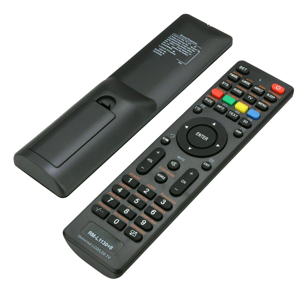 7in lcd portable car analog tv television 20hz 20khz pal ntsc secam hd car tv tuner fm radio txt reader tv Universal TV Remote Control RM-L1130 LCD LED HD Television ABS Plastic Battery Powered Controller