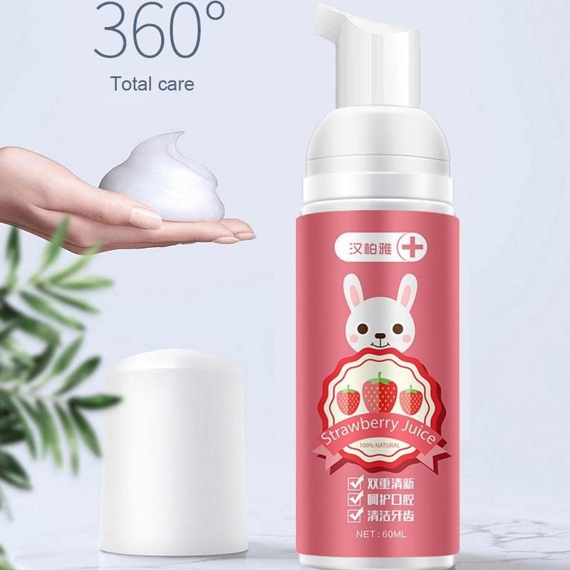 60ml Foam Whitening Toothpaste Stain Removal Dental Care Tool Teeth Mouth Cleaning Toothpaste Stain