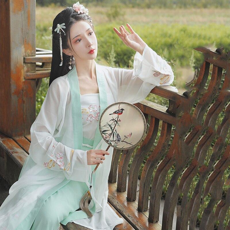 جديد التقليدية الصينية أزياء رقص Hanfu فستان المرأة القديمة هان أغنية سلالة الأميرة فستان Hanfu مهرجان الزي SL3368