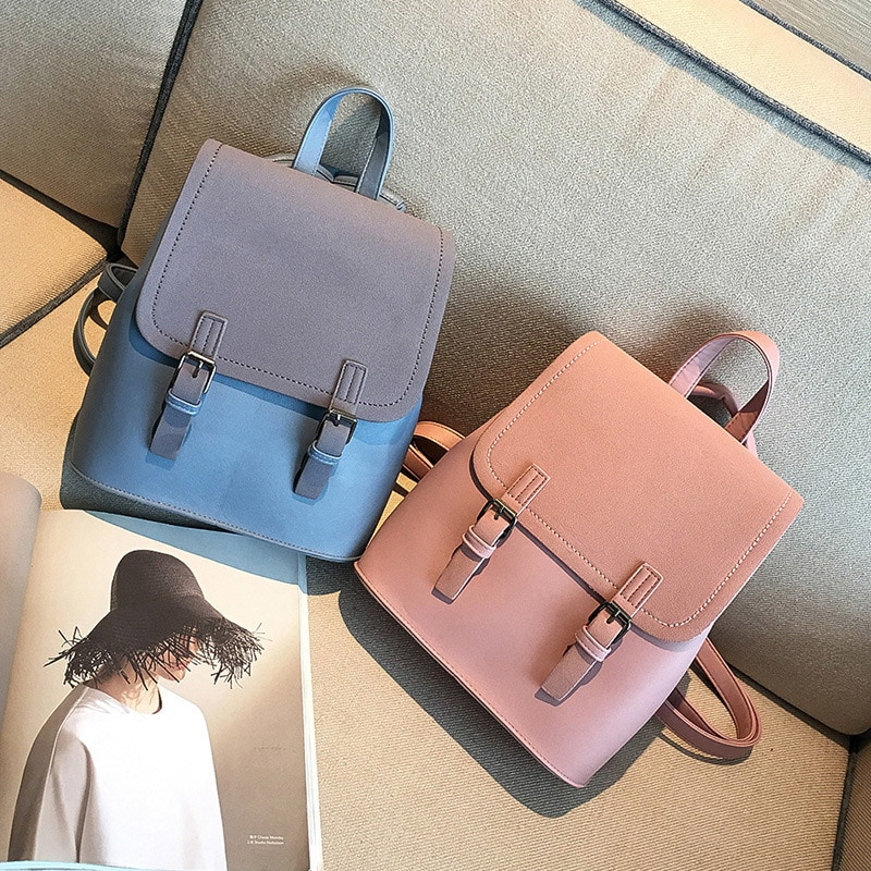 Designer Brand Backpack For Women 2020 New High Quality Pu Leather Girls School Bags Female Lady Fashion Travel Backpacks