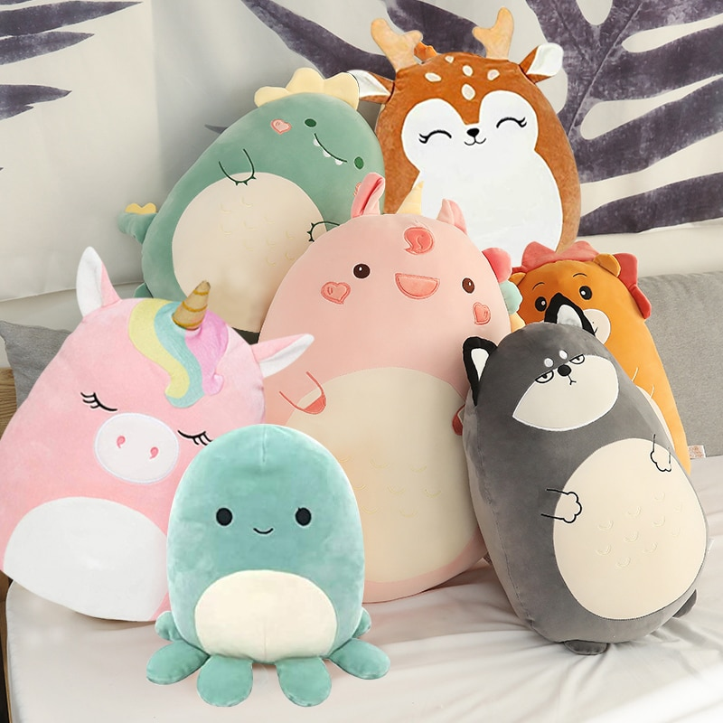 Squishmallow Plush Toy Animal Doll Kawaii Unicorn Dinosaur Lion Soft Pillow Buddy Stuffed Cushion Va