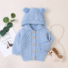 Spring Autumn Newborn Infant Baby Girl Boy Cardigan Clothes Winter Jacket Warm Coat Knitted Sweater