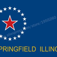 Illinois Springfield Flag 3 x 5 FT 90 x 150 cm USA States City Flags Banners America