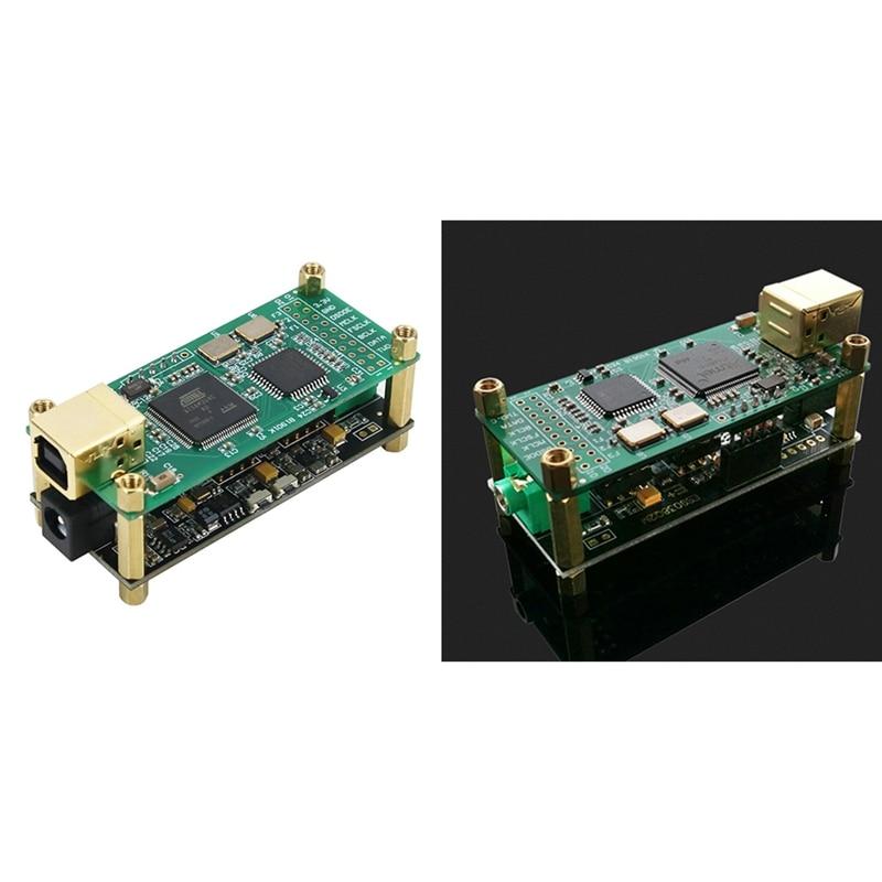 JABS ل Amanero واجهة ES9038Q2M محلل شفرة سمعي مجلس الصوت HiFi USB كارت الصوت دعم DSD256 PCM 384 كيلو هرتز