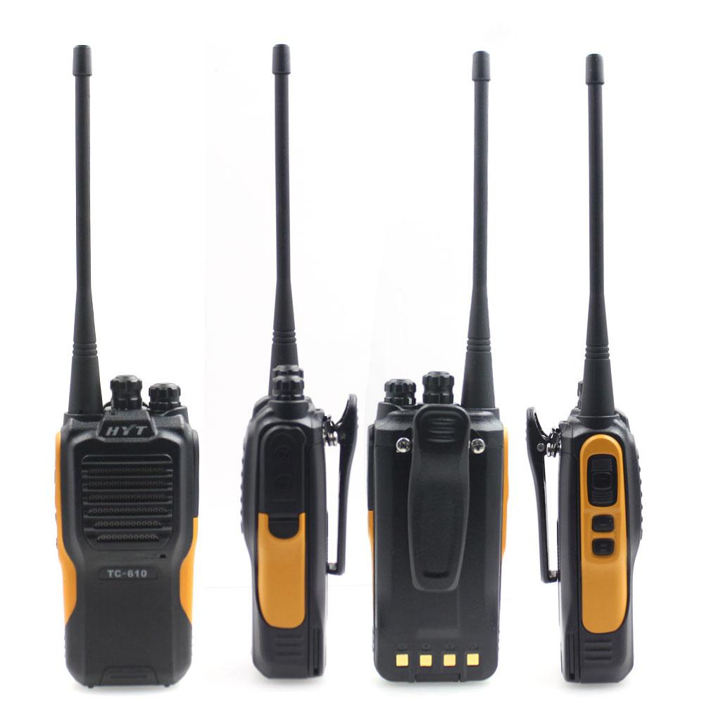 HYT TC-610 5W Portable Two Way Radio walkie talkie  1200mAH standard battery portable two way radio