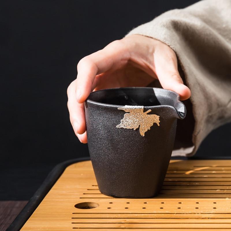 إبريق الفخار الأسود السيراميك كأس العام براد شاي الشاي الحجري الشاي إبريق الشاي مصافي الشاي كوب ملعقة صغيرة الشاي مع فلتر