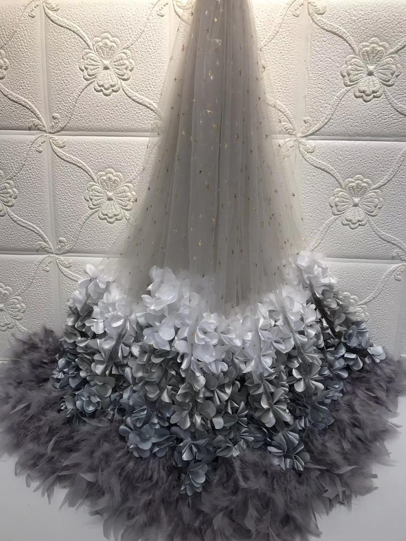 Africana de tela de encaje de alta calidad 2019 gris mbroidered nigeriano encaje neto de tela de encaje guipur de 5 yardas