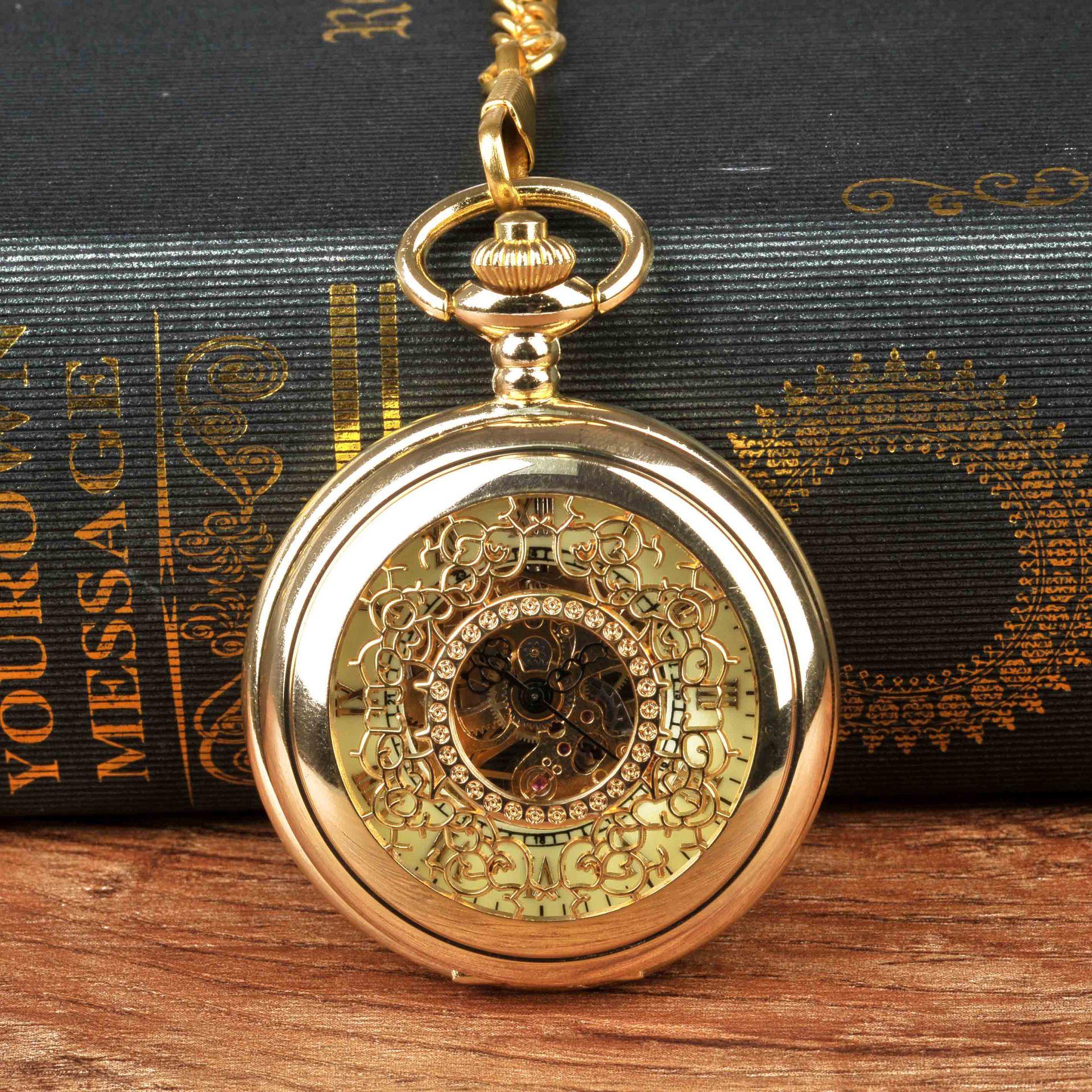 Карманные часы, механические карманные часы, мужские ретро карманные часы