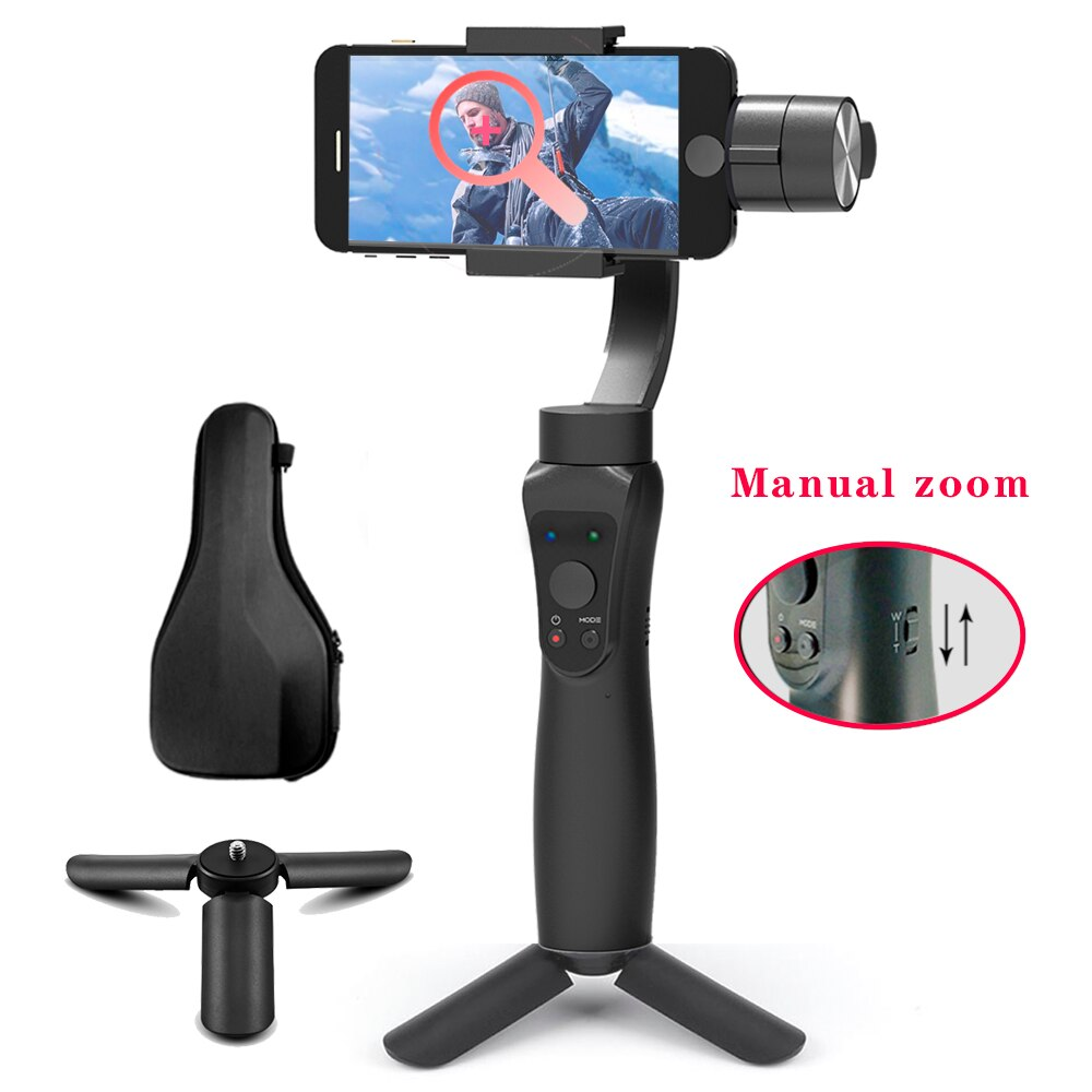 Orsda Gimbal Handheld  Smartphone Wireless 3-Axle Phone Bluetooth Phone Stabilizer For iPhoneX 11 Smartphone Mobile Manual Zoom