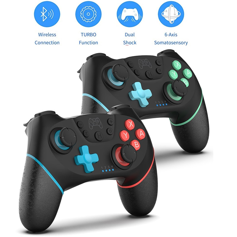 1pc Bluetooth-compatible Pro Game Controller 2.4GHz Wireless Gamepad Applies To NS-Switch Supports D
