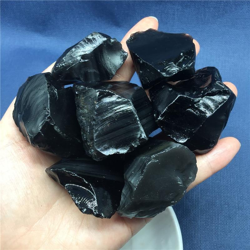 Piedra de obsidiana de cristal Natural de 100g, roca de cuarzo, espécimen de minerales en bruto, piedra preciosa Reiki Chakra, regalo de decoración