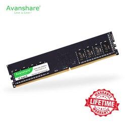 Avanshare ram ddr4 8gb 4 2400mhz/2666mhz 16gb computador dimm suporte de memória desktop placa-mãe ddr4 frete grátis por ali express