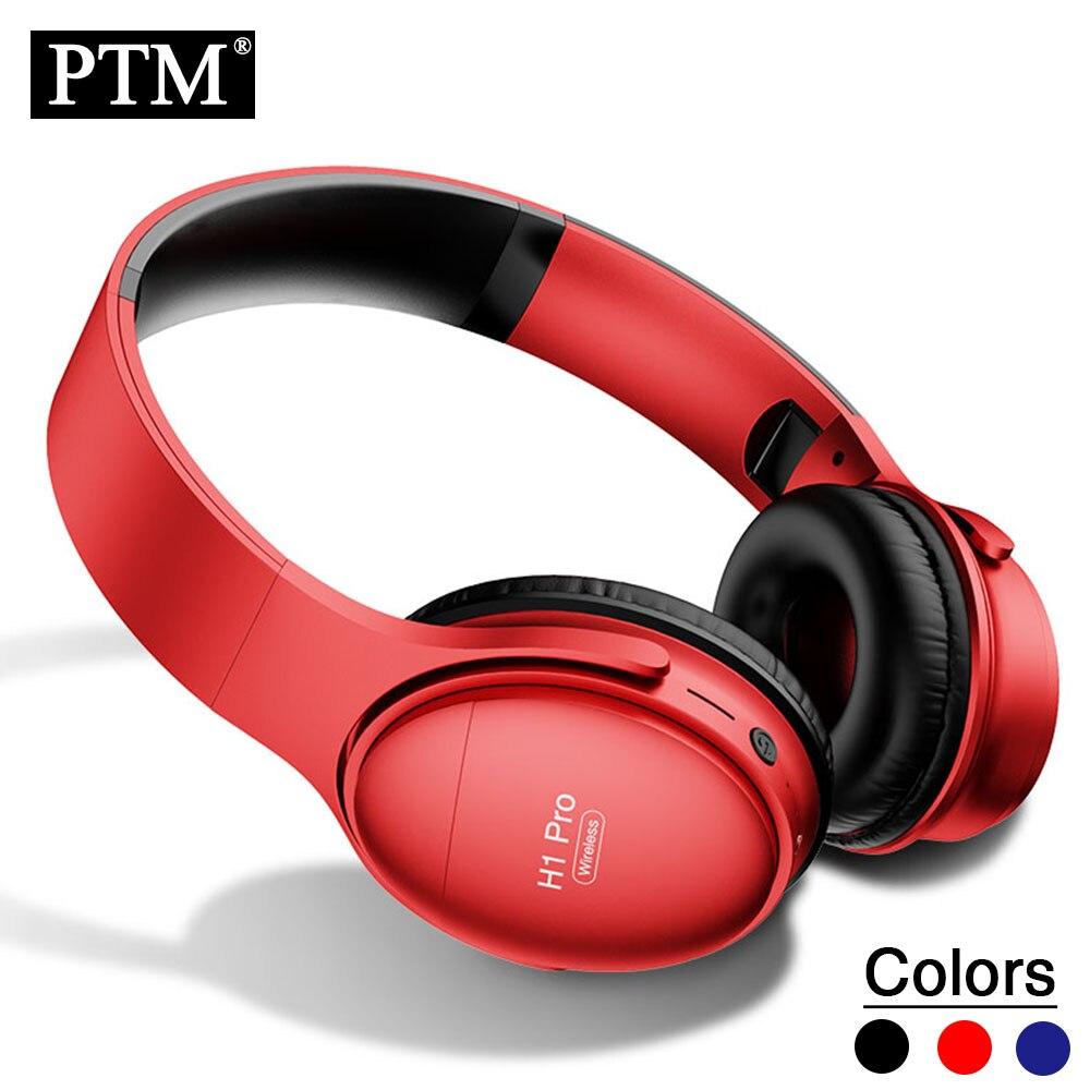 PTM Adjustable Wireless Headphones Bluetooth Headsets Headband Head phones set Soft Earpad Design