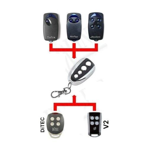 Código de rolamento de controle remoto para ditec, nice FLOR-S, agradável, v2 433.92mhz código fixo