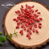 glseevo natural coral brooch female fat rice grain back coral branch handmade brooch wedding party high end jewelry go0391