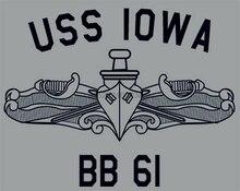 USN الولايات المتحدة البحرية يو اس ايوا BB-61 سفينة حربية تي شيرت
