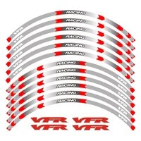 racing personality motorcycle accessories wheel hub decals reflective stickers outer rim for honda vfr vfr750 vfr800 vfr1200