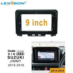 9 Polegada carro fascia para suzuki jimny 2015-2019 estéreo duplo din carro dvd quadro instalar painel traço montagem instalação in-dash